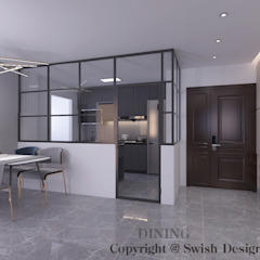 4-room BTO flat Modern dining room by Swish Design Works Modern
