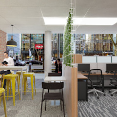 Industrial style office buildings by DW Interiors Industrial