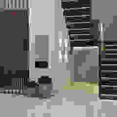 Pasillos, vestíbulos y escaleras minimalistas de Айгуль Сапарова Minimalista Madera Acabado en madera