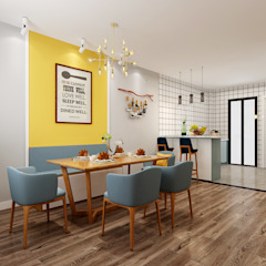 4-Room Resale Flat Scandinavian style dining room by Swish Design Works Scandinavian Plywood
