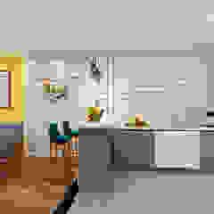 4-Room Resale Flat Scandinavian style kitchen by Swish Design Works Scandinavian Plywood