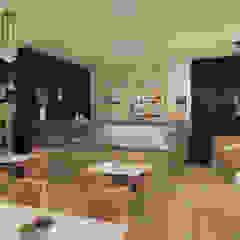 """Salão de Chá """"Ouro Azul"""" Espaços de restauração modernos por MIMAR Interiores Moderno Prata/Ouro"""