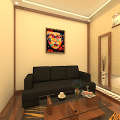 by skyqube interiors Asian پلائیووڈ