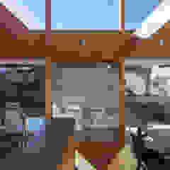 地面と空が近くに感じられる住宅 モダンデザインの 書斎 の 久木原工務店 モダン