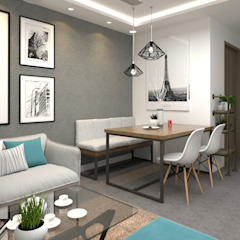 Kim Keat Link Modern dining room by Swish Design Works Modern