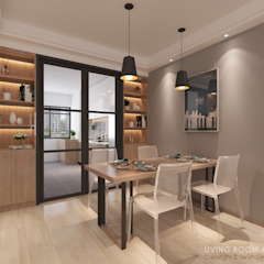Ang Mo Kio Ave 3 Modern dining room by Swish Design Works Modern Plywood