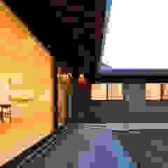 Scandinavian style balcony, veranda & terrace by 居アーキテクツ一級建築士事務所 Scandinavian