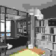 Stubbs Road 司徒拔道 | WanChai 灣仔 | Hong Kong 香港 Modern study/office by Nelson W Design Modern Engineered Wood Transparent
