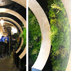 New Trendy Artificial Plants Panels For Vertical Landscape Tropical style walls & floors by Sunwing Industries Ltd Tropical Plastic