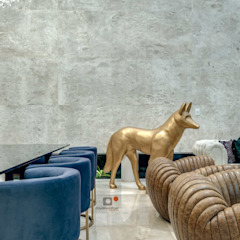 Casa AA Salas de estar modernas por dayala+rafael arquitetura Moderno