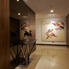 Minimalist corridor, hallway & stairs by Geraldine Oliva Minimalist