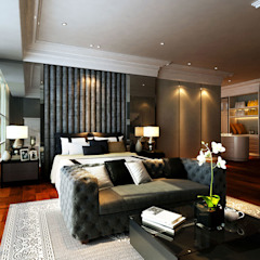 Sunway Vivaldi Penthouse Classic style bedroom by Latitude Design Sdn Bhd Classic