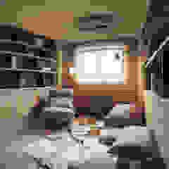 Azjatyckie domowe biuro i gabinet od 小福砌空間設計 Azjatycki