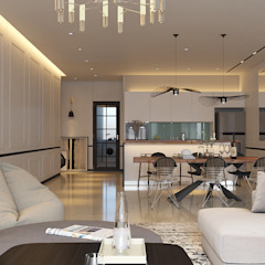 Pavilion Hilltop, Mont Kiara Modern dining room by Norm designhaus Modern