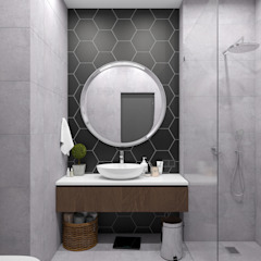 Industrial style bathroom by СТУДИЯ DESIGNPLAN Industrial
