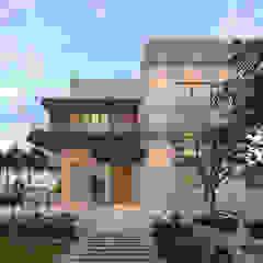 by Ravi Prakash Architect Minimalist Reinforced concrete