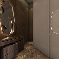 Minimalist corridor, hallway & stairs by Ashleys Minimalist