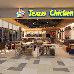 Texas Chicken - Centro commerciale Vivocity Bar & Club moderni di Phlox Design Moderno