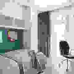 Industrial style bedroom by Interior designers Pavel and Svetlana Alekseeva Industrial
