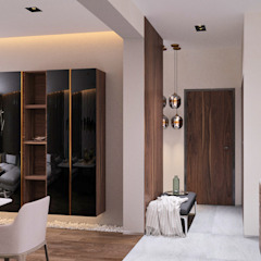 Minimalist corridor, hallway & stairs by ROKHA interiors Minimalist