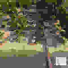 MAMBAZAMBIA - ECOHOUSING Pasillos, vestíbulos y escaleras de estilo tropical de TORO VARGAS Asesoria & Construccion s.a.s Tropical