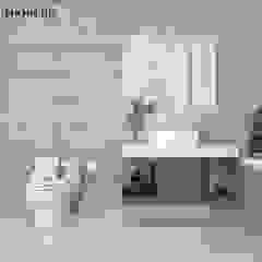 THIẾT KẾ NỘI THẤT NHÀ PHỐ PHONG CÁCH BẮC ÂU - 4 PHÒNG NGỦ (CHỊ TIÊN - Q.3) Phòng tắm phong cách Bắc Âu bởi Công ty TNHH Nội Thất Mạnh Hệ Bắc Âu