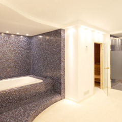 raumdeuter GbR Modern style bathrooms Tiles Blue
