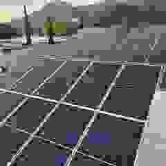 KB Solar Negozi & Locali commerciali moderni Alluminio / Zinco Blu