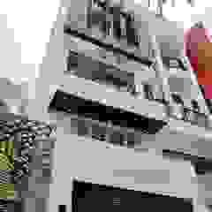 AN PHÚ DESIGN & BUILD Modern Houses Reinforced concrete White