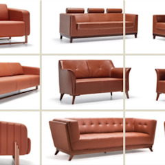 Sofas and Armchairs SG International Trade Oficinas y tiendas Cuero Rojo
