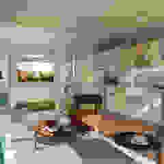 Kuca İnterior Design & Art Ruang Keluarga Gaya Industrial
