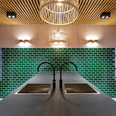 Aangenaam Interieuradvies Espaces de bureaux modernes Vert