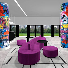 Ro Pinheiro Ingresso, Corridoio & Scale in stile moderno