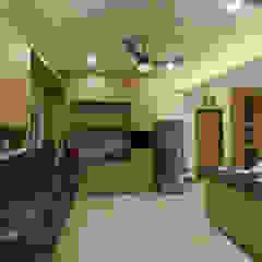 Modular kitchen interiors Offcentered Architects Modern Kitchen