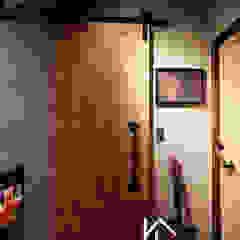 禹陞設計工作室 industrial style corridor, hallway & stairs Iron/Steel Grey
