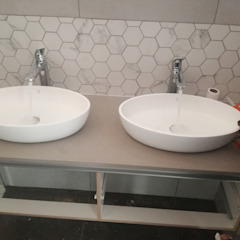 Double Handbasins Afrisom Projects Pty Ltd Modern style bathrooms