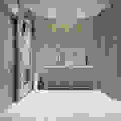De Panache Pasillos, vestíbulos y escaleras de estilo moderno Mármol Blanco