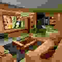 Aida tropeano& Asociados Modern Living Room Engineered Wood Beige