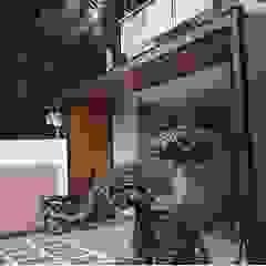 Alfaiz Design Modern Terrace Plastic Brown