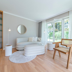 Münchner home staging Agentur GESCHKA Living roomSofas & armchairs Beige