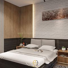 Rancang Reka Ruang Small bedroom Multicolored