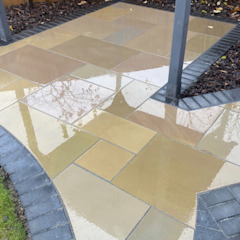 Rainbow Sandstone Paving - Royale Stones Royale Stones Limited Garden Shed