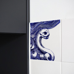 José den Hartog Murs & Sols originaux Tuiles Bleu