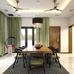 Dining room designs Premdas Krishna Dining roomAccessories & decoration Wood Wood effect