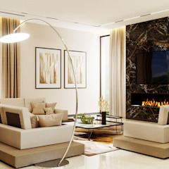 Студия дизайна ROMANIUK DESIGN Minimalist living room