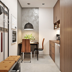 Студия дизайна ROMANIUK DESIGN Minimalist study/office