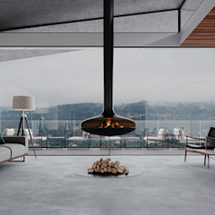 MJARC - Arquitetos Associados, lda Rustic style living room