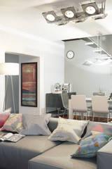 Salón para vivienda Unifamiliar 3D:  de estilo  de Icaras 3D