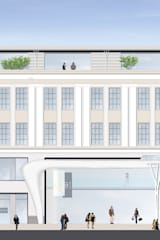 Hauptfassade Uferpromenade Ulitsa Gorkogo:   von Achtergarde + Welzel Architektur + Interior Design