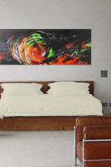 """Wandgestaltung durch Acrylbild """"Phantasie"""": moderne Schlafzimmer von Mersch-ART"""